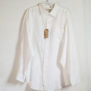 New Roundtree Yorke Caribbean Linen Shirt 3XB